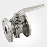 2PC Flanged ball valve JIS