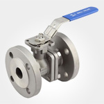 2PC Flanged ball valve with direct mounting pad ANSI